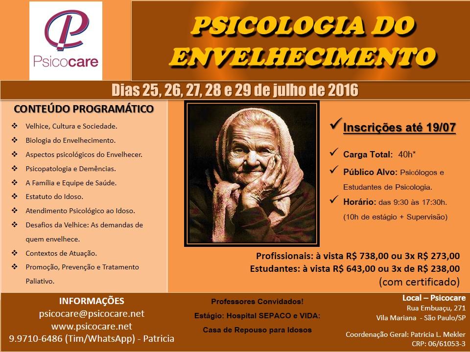 CURSO: PSICOLOGIA DO ENVELHECIMENTO