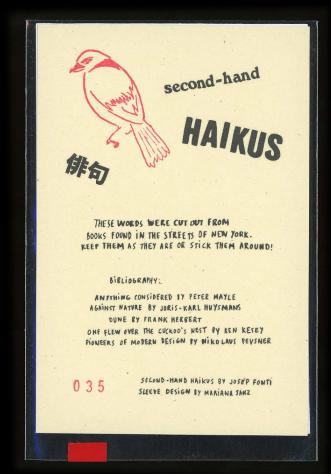 Second-hand Haikus