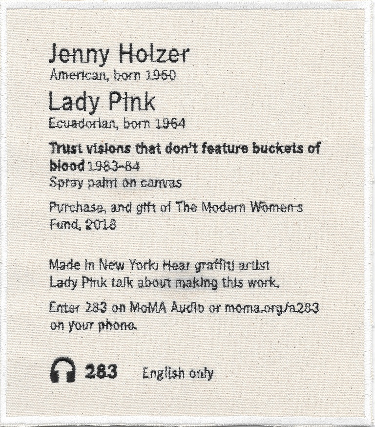 Permanent Collection Canvas Patch: Jenny Holzer / Lady Pink