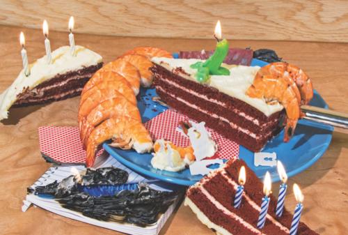 Shrimp Cake Postcard