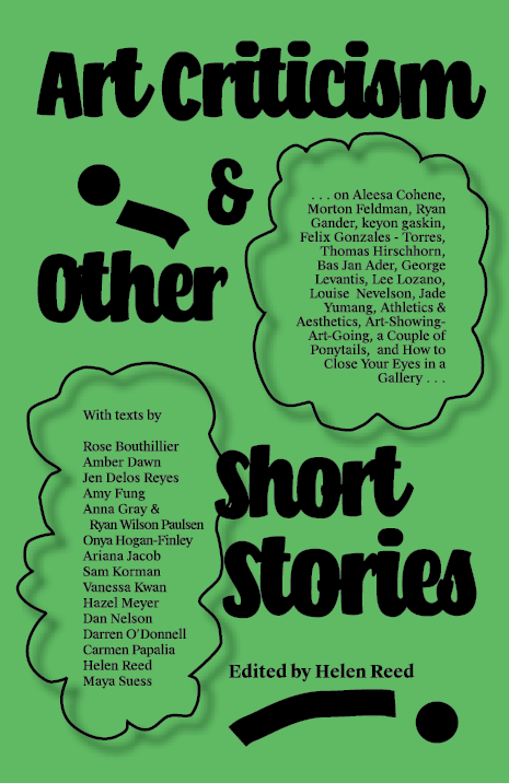 Art Criticism and Other Short Stories