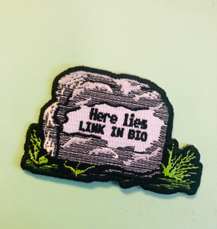 Here Lies Link in Bio Patch