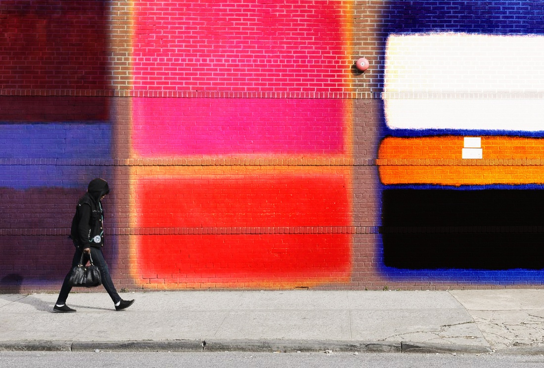 Painted wall.