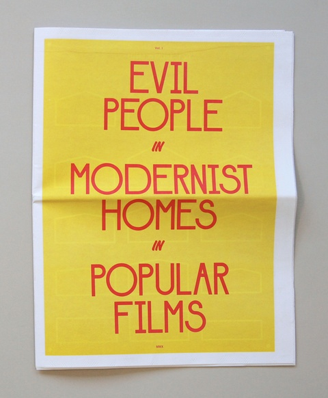 Evil People in Modernist Homes in Popular Films