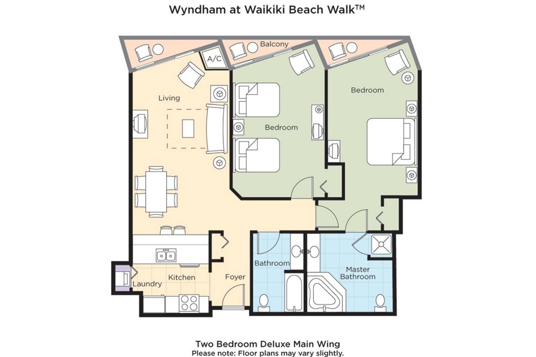 Apartment Wyndham Wakiki Beach Walk 2 Bedrooms 2 Bath photo 20366181