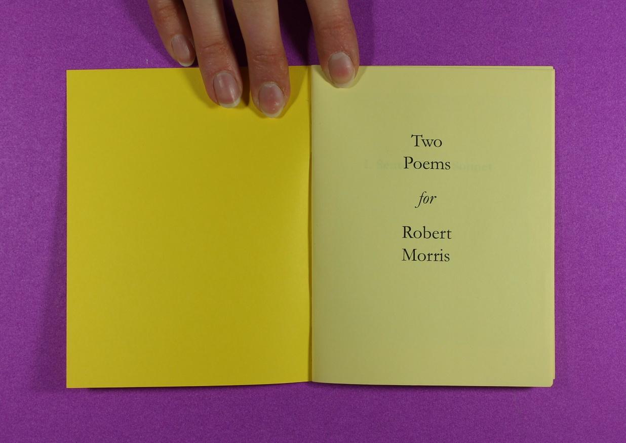 Two Poems for Robert Morris thumbnail 2