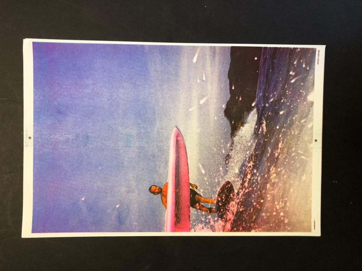 Untitled (Surfer): 4/C Blue, Yellow, Pink, Black