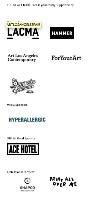 Printed Matter's LA Art Book Fair 2016