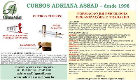 FORMAÇÃO EM PSICOLOGIA, ORGANIZAÇÕES E TRABALHO