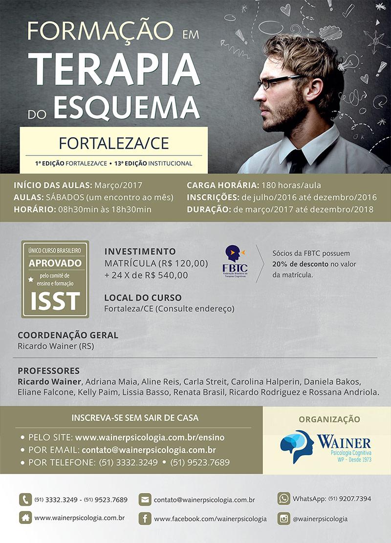 Curso de Formação em Terapia do Esquema - 1ª edição Fortaleza
