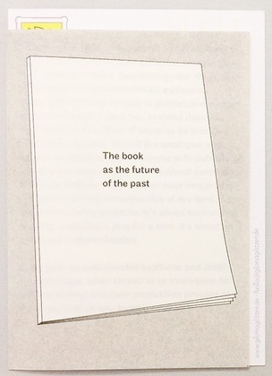 The book as the future of the past