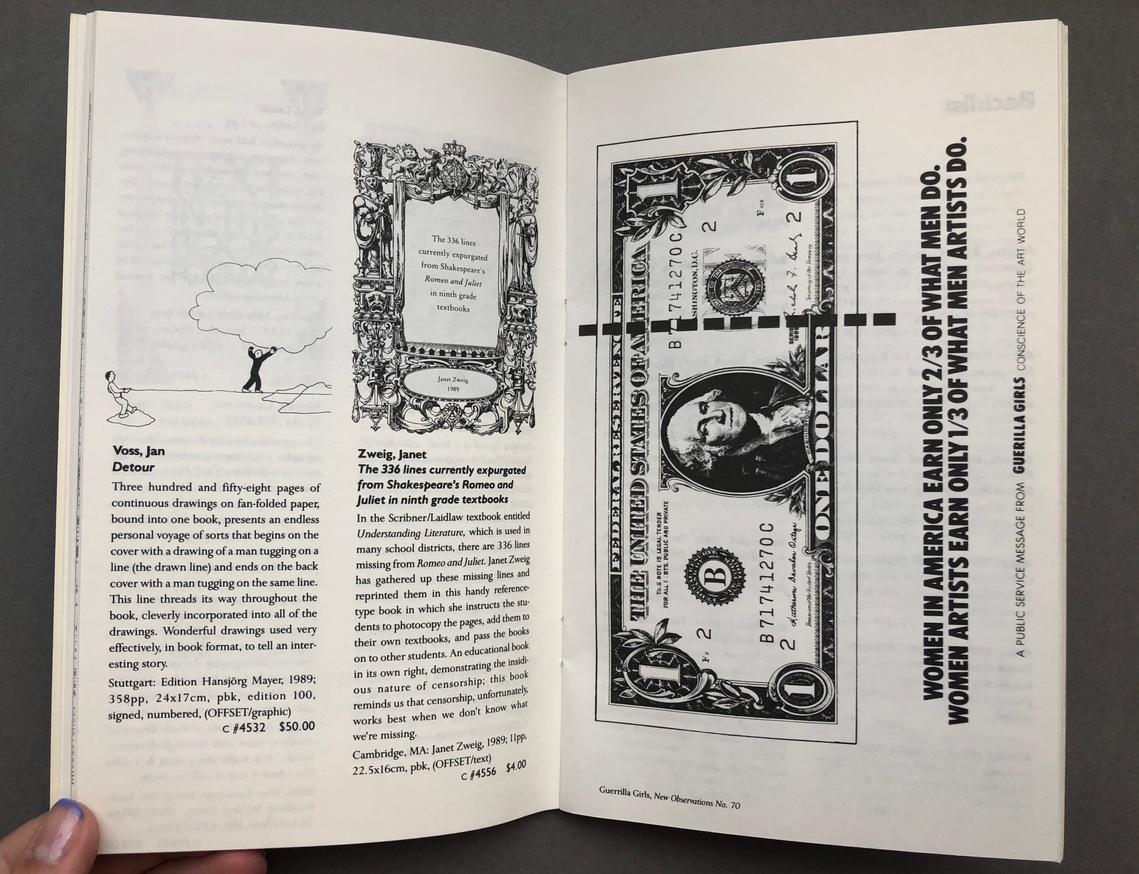 Printed Matter 1990 Spring Catalog thumbnail 7