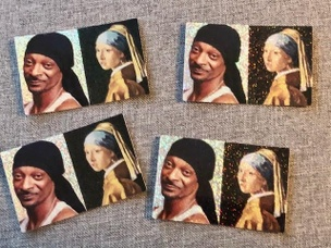 Snoop and the Pearl Earring Glitter Sticker
