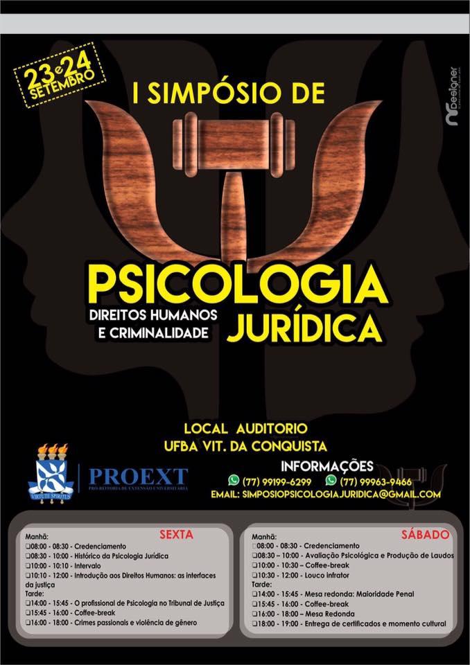 I Simpósio de Psicologia Jurídica: Direitos Humanos e Criminalidade.