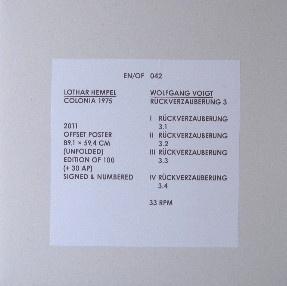 EN/OF 042: Lothar Hempel / Wolfgang Voigt – Colonia 1975 - Rückverzauberung 3
