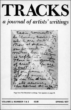 Tracks : A Journal of Artists' Writings