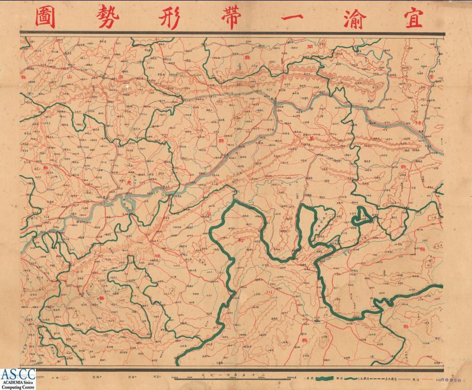 The Topographic Maps between Yichang and Chongqing, 1936