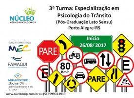 Especialização em Psicologia do Trânsito (Pós-Graduação Lato Sensu) 26/08