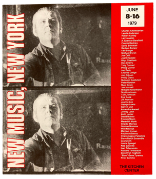 New Music, New York, June 8-16, 1979 [The Kitchen Posters]