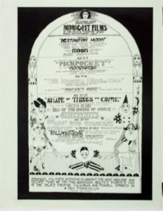 Nocturnal Dreams Shows Present Midnight Films, Palace Theater, San Francisco, August 1969
