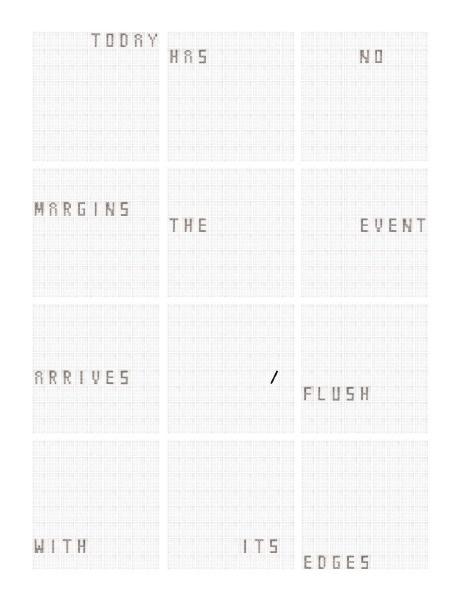 Today Is Today Is Today Is Today : Complete Set of 12 Prints