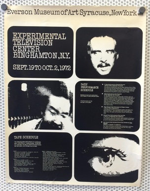 Everson Museum of Art Syracuse : Experimental Television Center Binghamton, NY Sept. 19 - Oct. 2, 1972