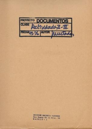 Documentos: Actividades II–III