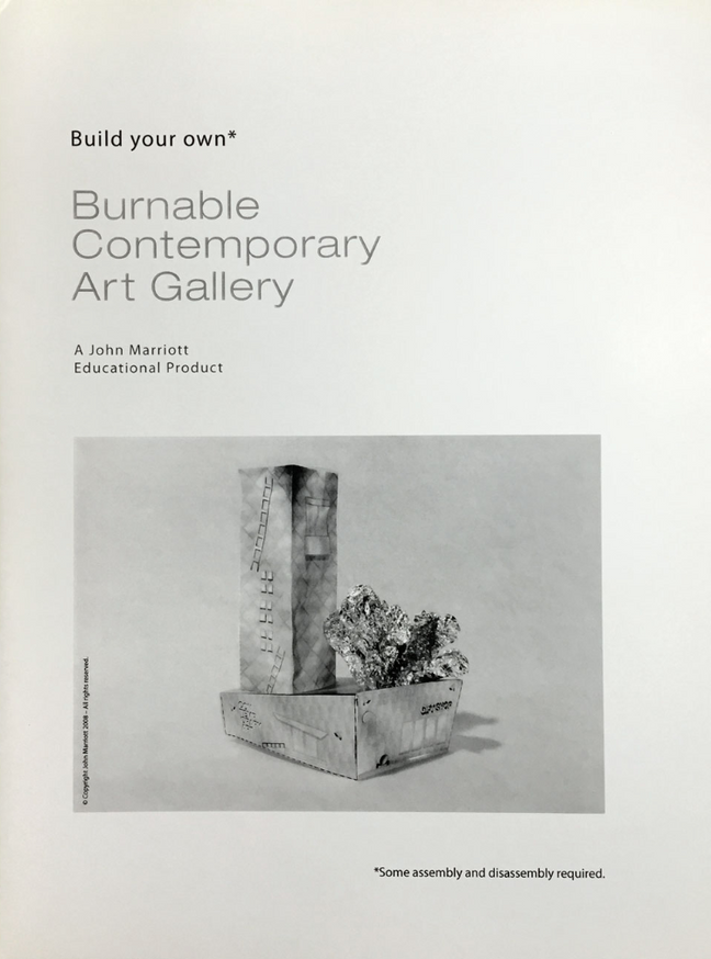 Make Your Own Burnable Contemporary Art Gallery