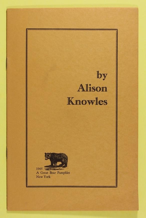 by Alison Knowles [first edition]