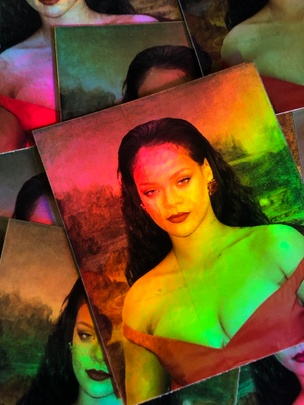 Rihanna Lisa Holographic Sticker