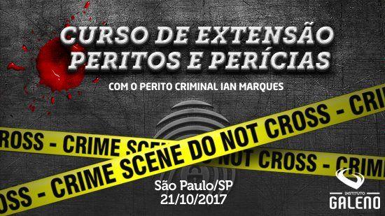 Curso de Extenxão: Peritos e Perícia em São Paulo/SP