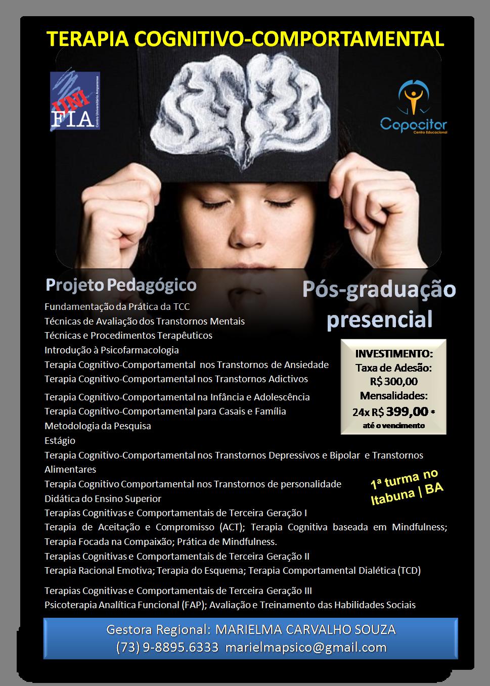 Pós Graduação em Terapia Cognitivo Comportamental