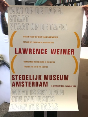 Lawrence Weiner: Stedelijk Museum Amsterdam 19 November 1988 - 1 Januari 1989