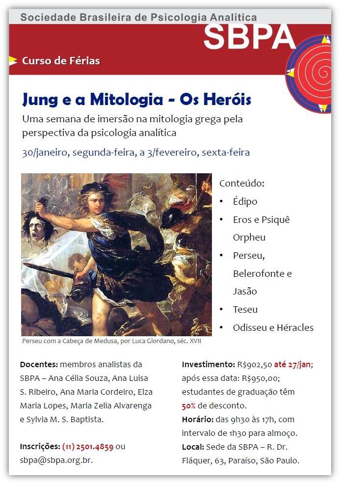 Curso de Férias: Jung e a Mitologia - Os Heróis
