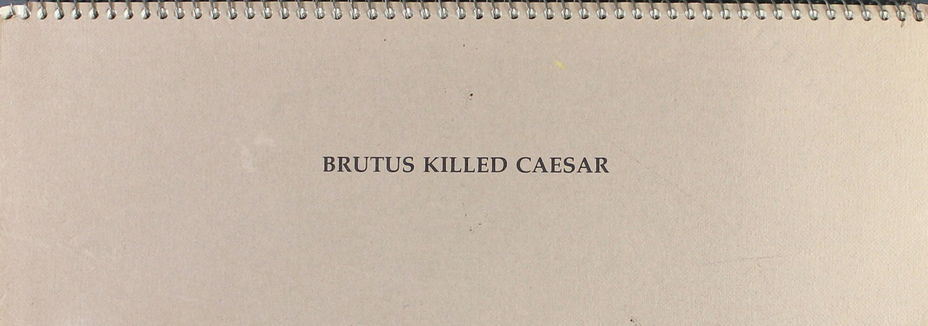 Brutus Killed Ceasar