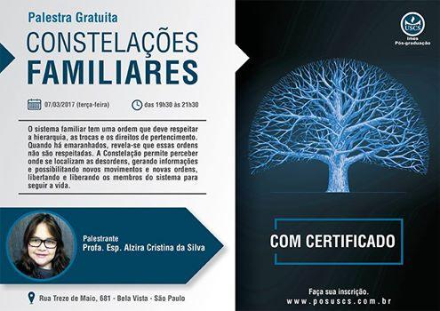Palestra gratuita - Constelações Familiares