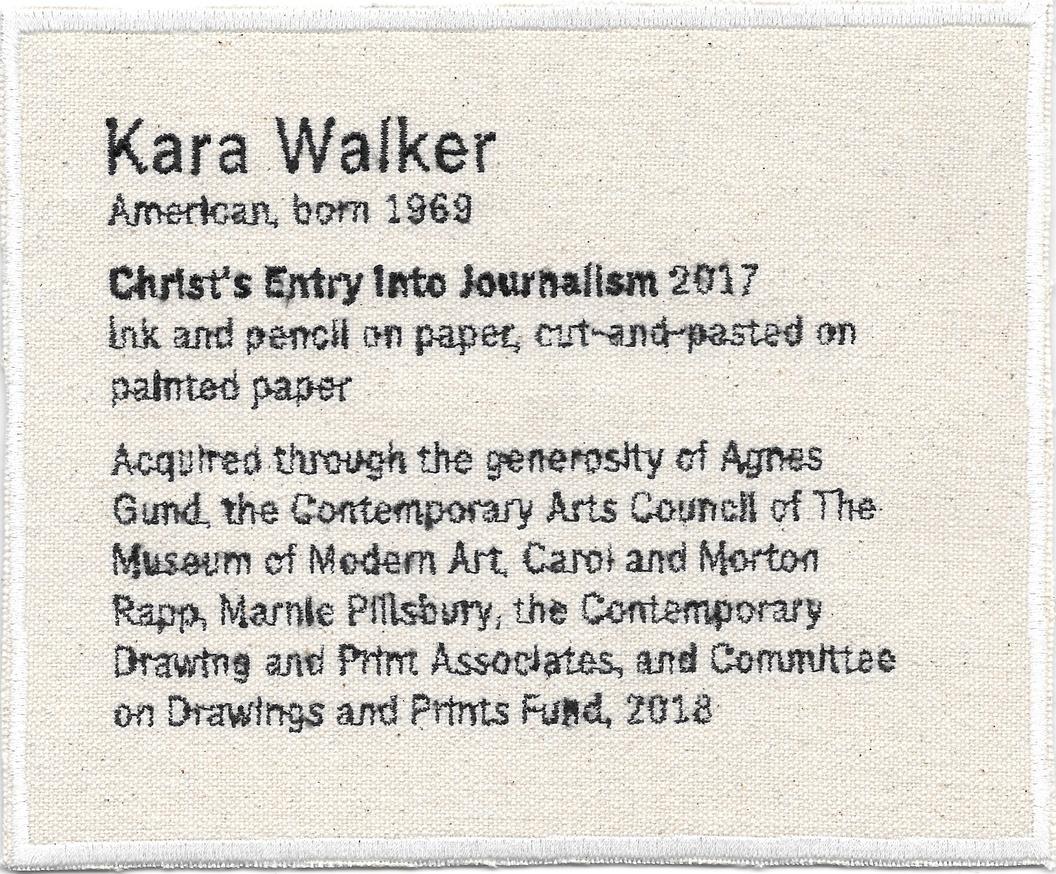 Permanent Collection Canvas Patch: Kara Walker