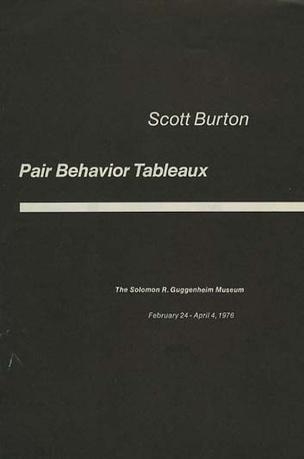 Scott Burton : Pair Behavior Tableaux
