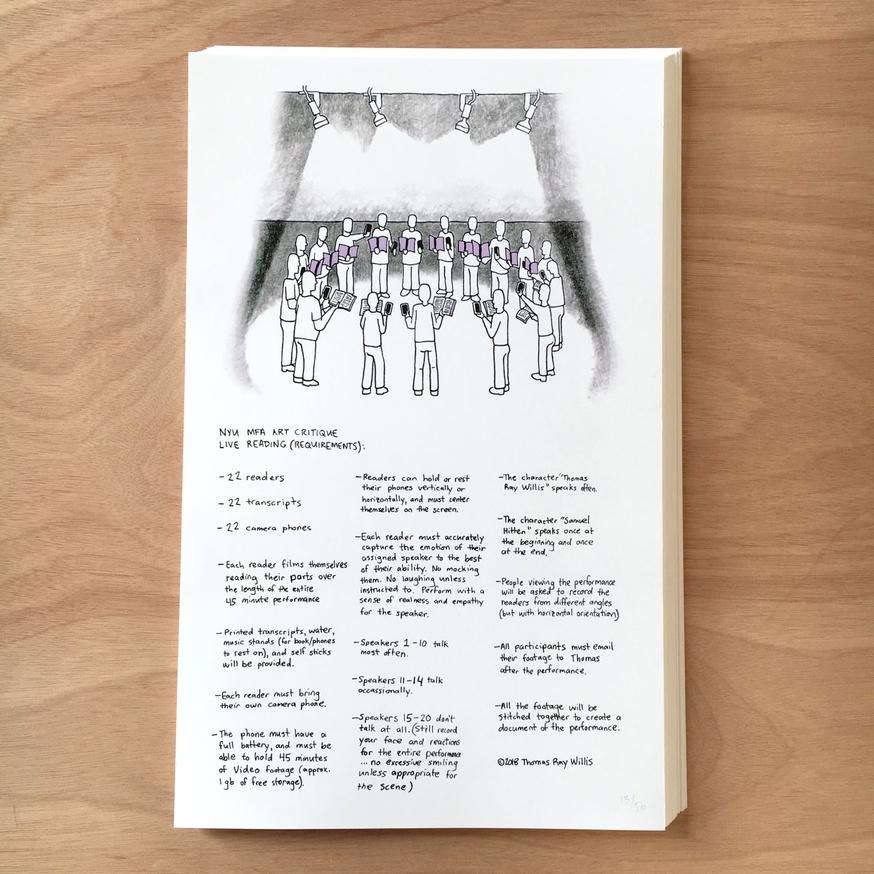 Live Reading: NYU MFA Art Critique (Requirements)