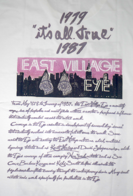 "East Village Eye Sept/Oct 1980 ""Picasso Sucks"" Black T-shirt (Japanese Version) thumbnail 2"