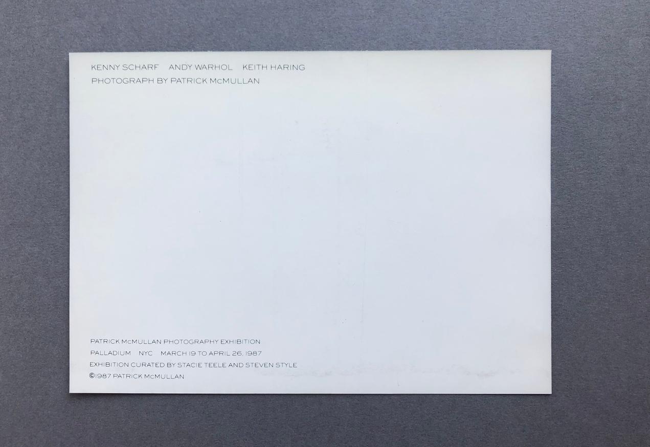 Patrick McMullan Exhibition Card (Kenny Scharf, Andy Warhol, Keith Haring) thumbnail 2
