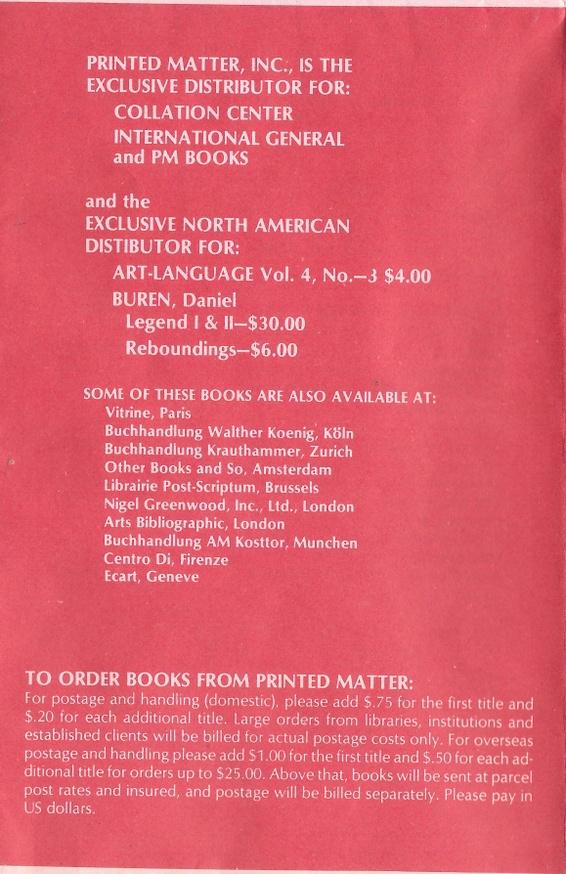 Printed Matter Inc. Mail Order Broadsheet  thumbnail 2