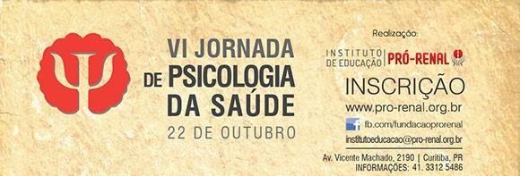 VI Jornada de Psicologia de Psicologia da Saúde