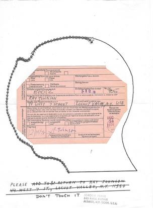 Untitled [Registered Letter Return Card]