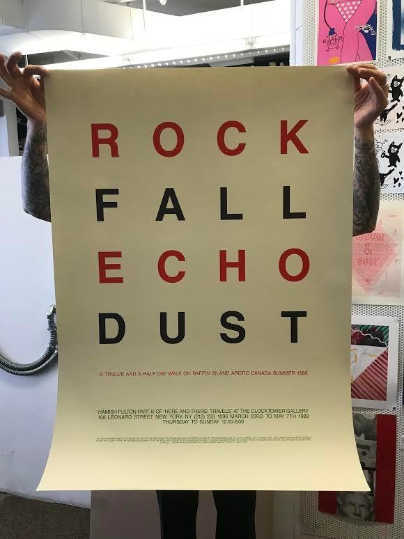 Rock Fall Echo Dust: A Twelve and a Half Day Walk on Baffin Island Arctic Canada Summer 1988.
