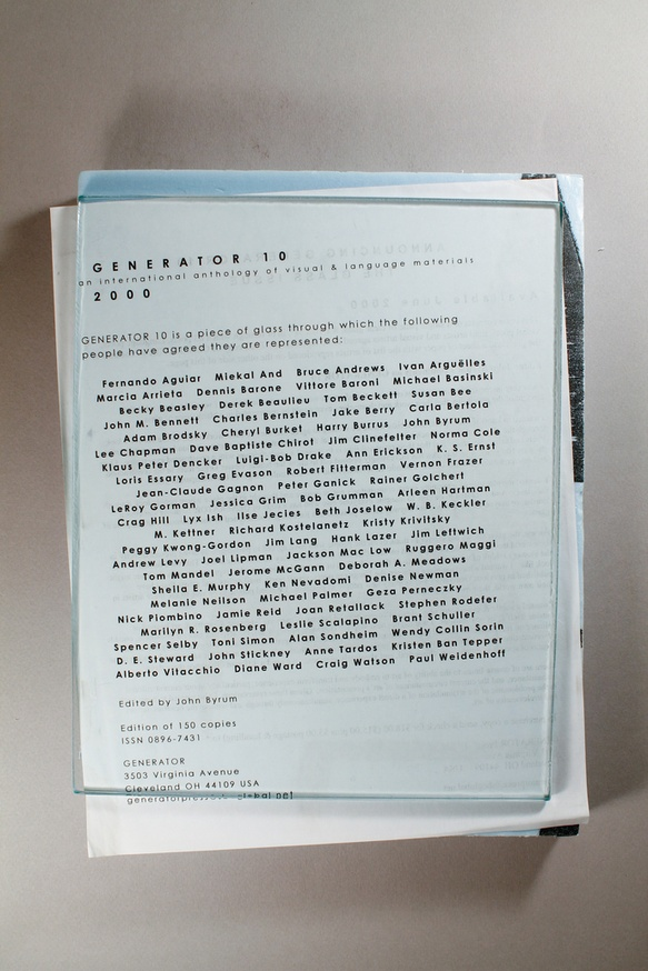 Generator  :  An International Anthology of Visual and Language Poetries