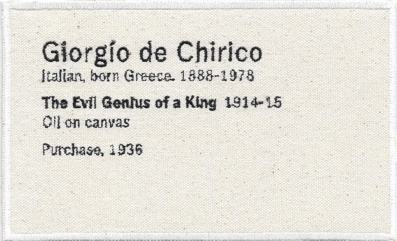 Permanent Collection Canvas Patch: Giorgio de Chirico