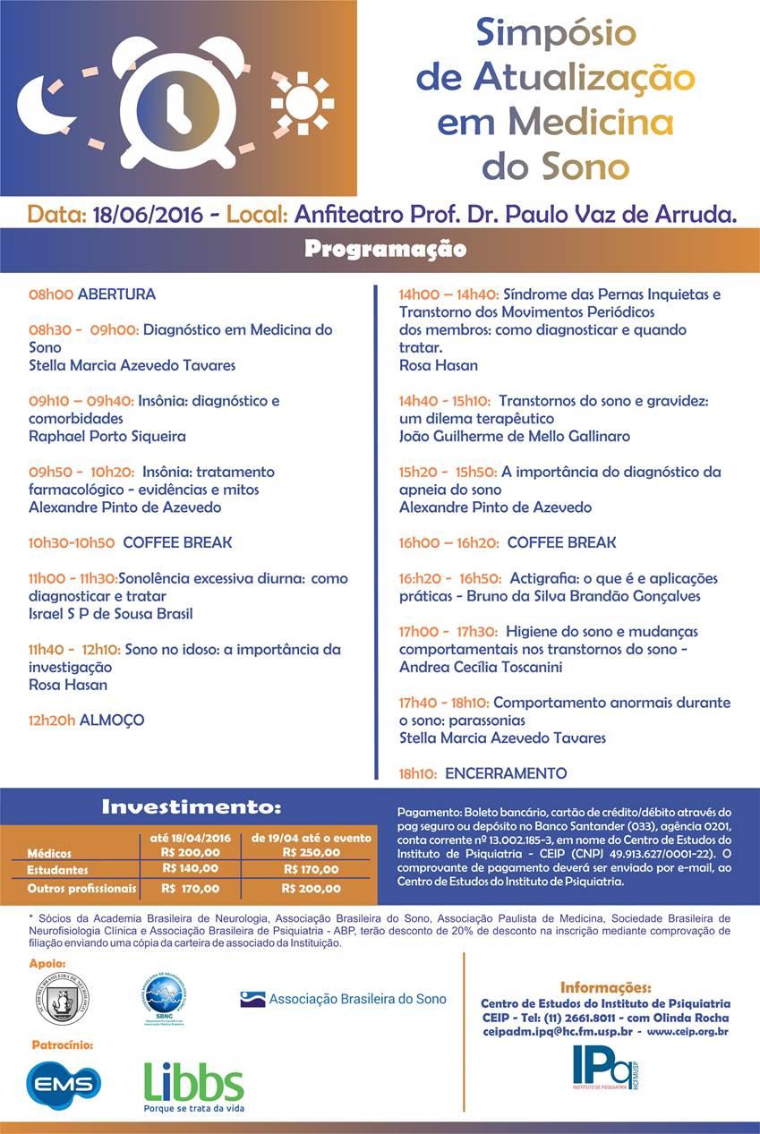 Curso de Atualização em Medicina do Sono -  HCFMUSP.