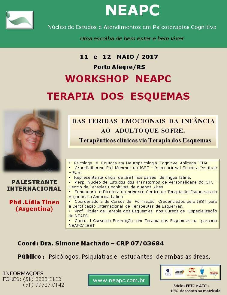 Workshop NEAPC de Terapia dos Esquemas: Das Feridas Emocionais da Infância ao Adulto que Sofre