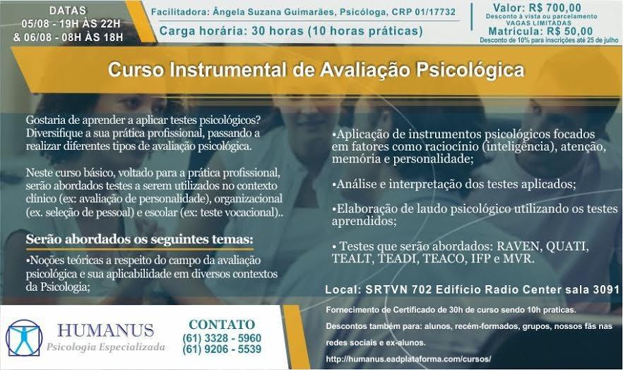 Curso Instrumental de Avaliação Psicologica